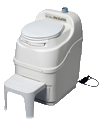 Sun-Mar self contained composting toilet white space saver model